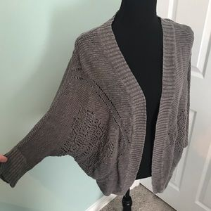 Maurices dolman sleeve pointelle cardigan GUC